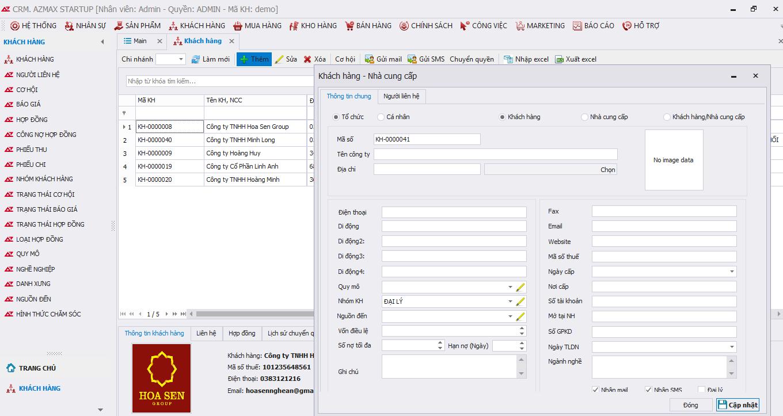 AZ CRM – Phân hệ quản lý khách hàng trên phần mềm CRM