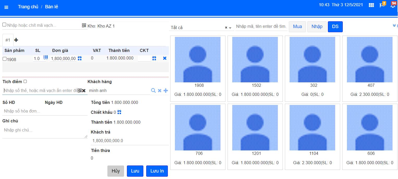 Quản lý bán hàng cho thành viên thông qua phần mềm quản lý thẻ AZ MEMBER