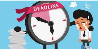 chậm trễ deadline công việc